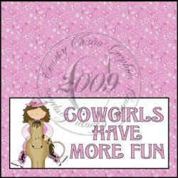Cowgirls Have More Fun Bag Topper