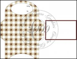 Tan Gingham & Roses Gift Card Holder Set