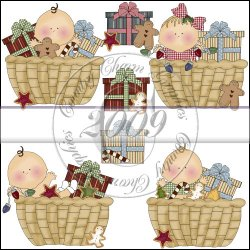 Basket of Christmas Blessings Mini Collection