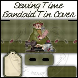 Sewing Time Bandaid Tin Cover Set
