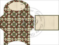 Green Gingham Quilt Gift Card Holder Set