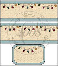 Christmas Lights International Coffee Tin Cover Set