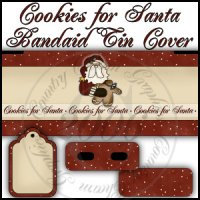 Cookies for Santa Bandaid Tin Cover Set