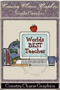 Worlds Best Teacher Single Graphic Set