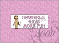 Cowgirls Have More Fun Candy Bar Wrapper, 1.55 oz.