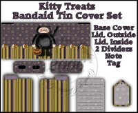 Kitty Treats Bandaid Tin Cover Set