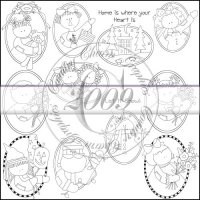 Whimsical Ovals Line Art & Pattern Collection
