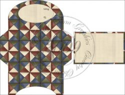 Prim Quilt Gift Card Holder Set