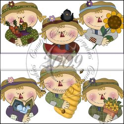 Scarecrow Faces Mini Collection