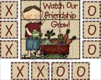 Watch Our Friendship Grow Tic Tac Toe Game Set