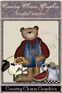 Farmer Bear Single Graphic Set