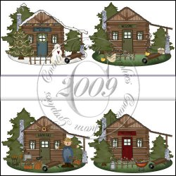 Cozy Seasonal Cabins Mini Collection
