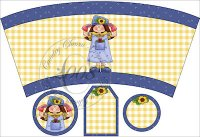 Whimsical Garden Girl Cup Cover Set