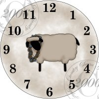 Prim Sheep Clock