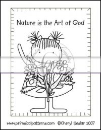 Nature is the Art of God Line Art & Pattern Single