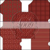 Pretty Christmas in Red Gift Card Sleeve Collection