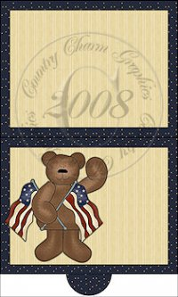 Americana Bear Folding Notecard