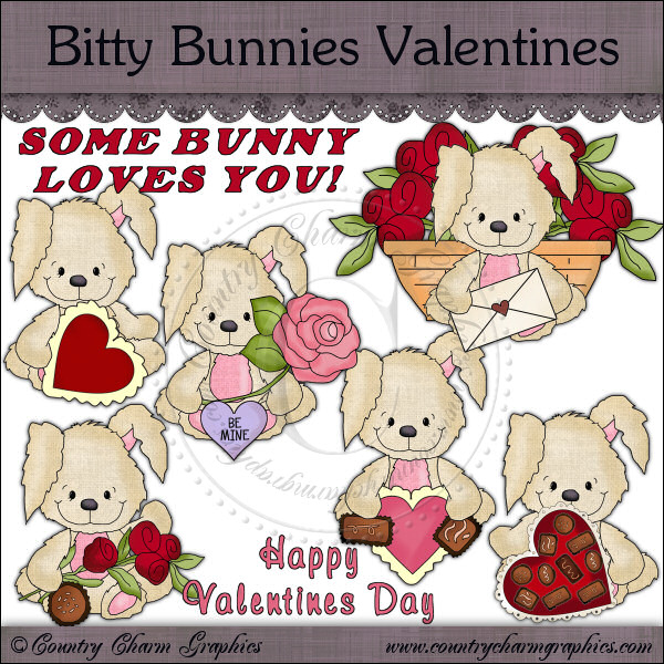 Bitty Bunnies Valentines Mini Collection - Click Image to Close