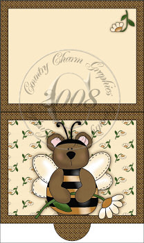 Bumble Bear Folding Notecard