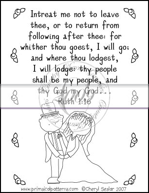 Intreat Me Not to Leave Thee Line Art & Pattern Single - Click Image to Close