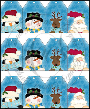 Winter Faces Sheet Tags - Click Image to Close